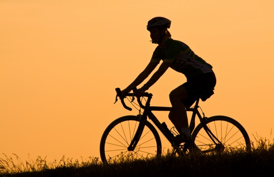 Sunset cycling